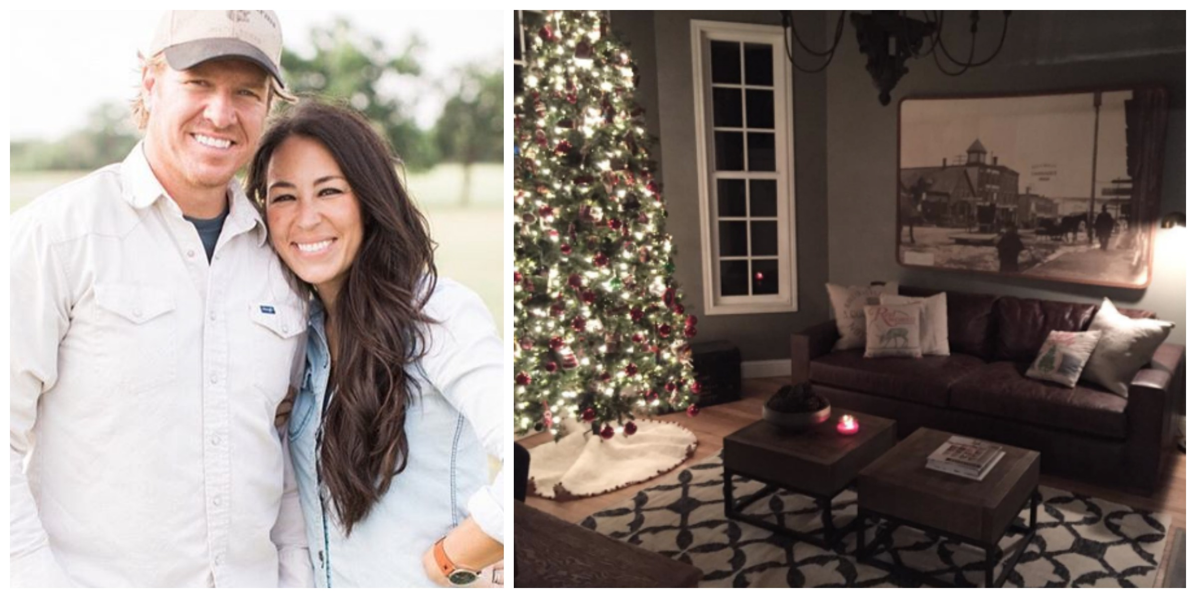 Joanna gaines christmas how chip and joanna decorate for for Chip and joanna gaines bed and breakfast