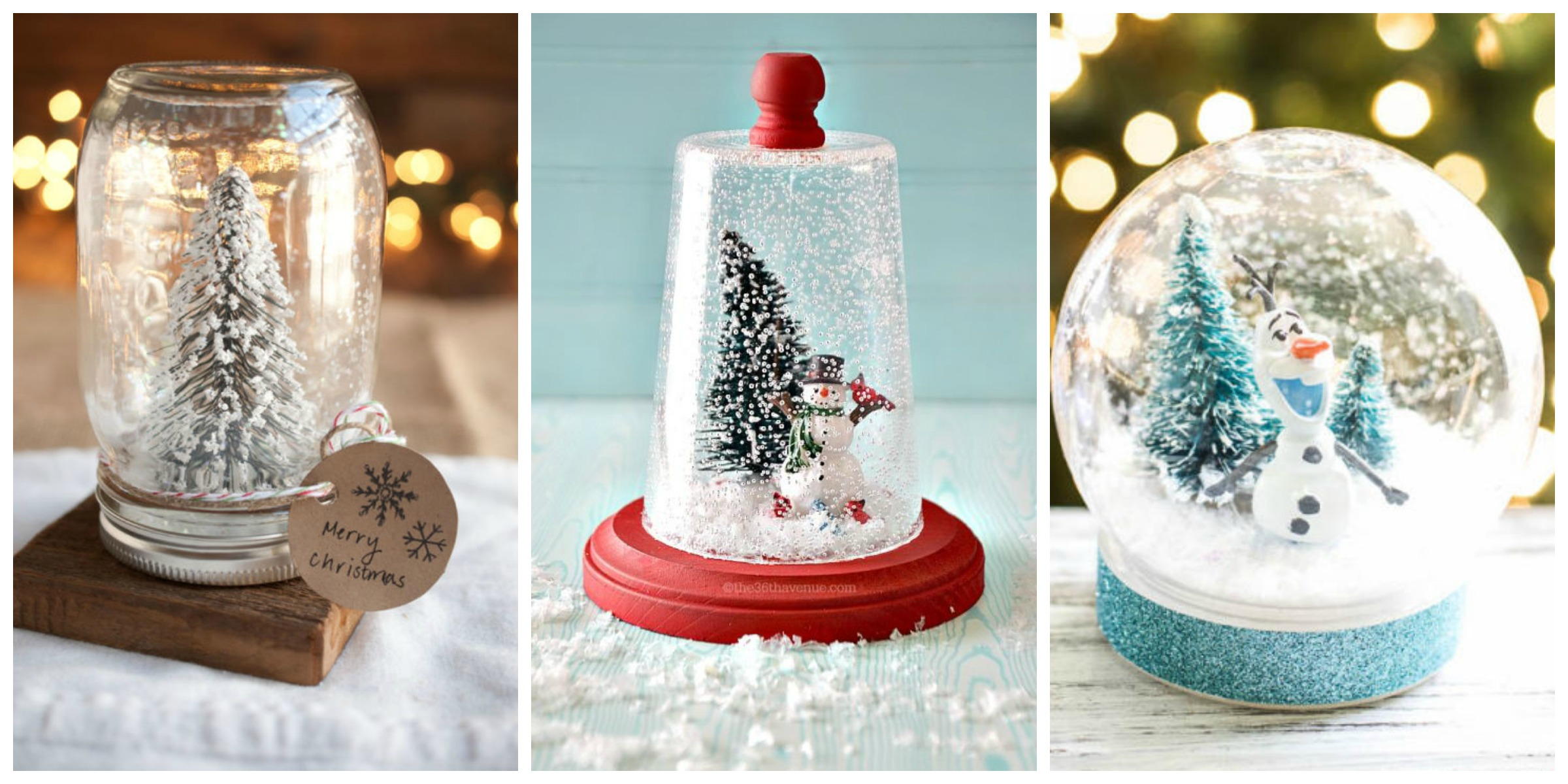 13 diy snowglobes that will get you excited for christmas for Easy homemade christmas snow globes