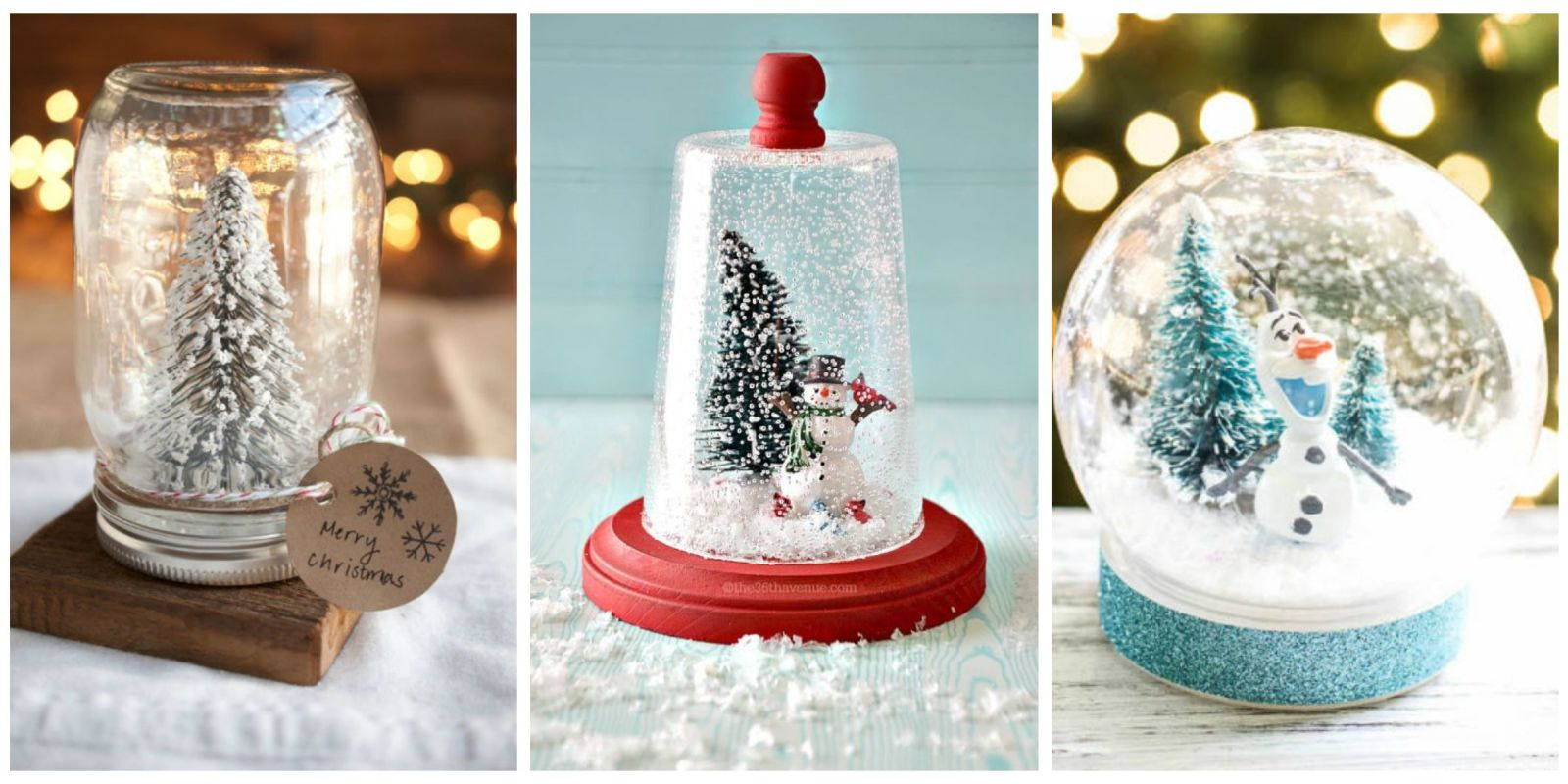 13 diy snowglobes that will get you excited for christmas how to make snow globes. Black Bedroom Furniture Sets. Home Design Ideas