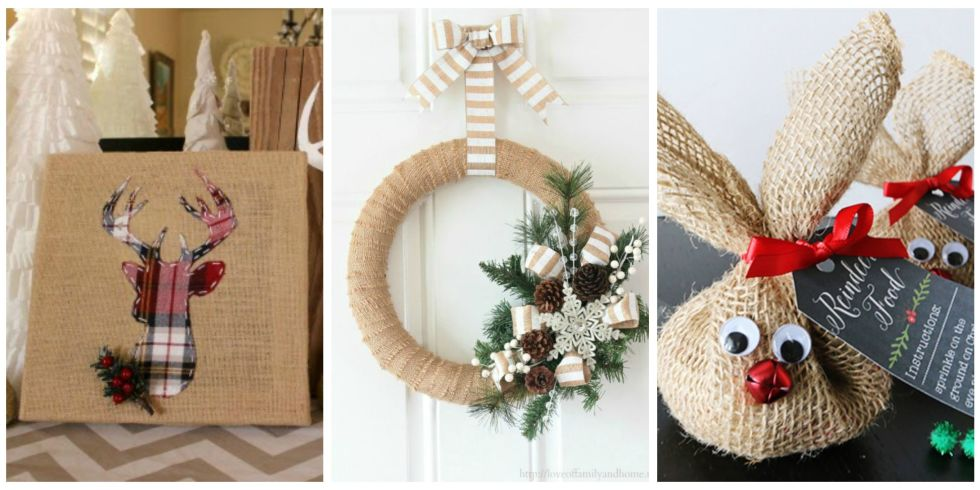 14 Burlap Christmas Decorations - Rustic Christmas Decor