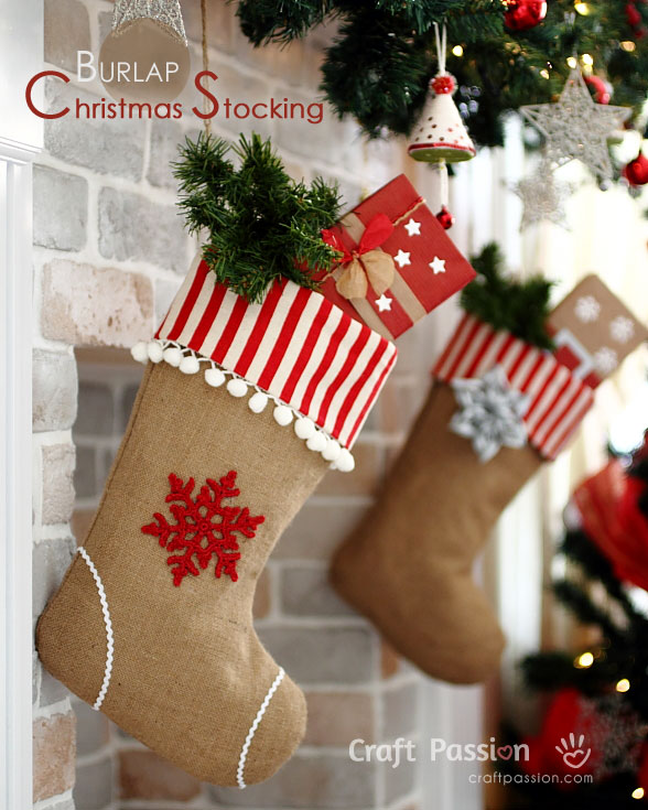 Burlap Christmas Decorations Rustic Christmas Decor - Diy burlap christmas decorations
