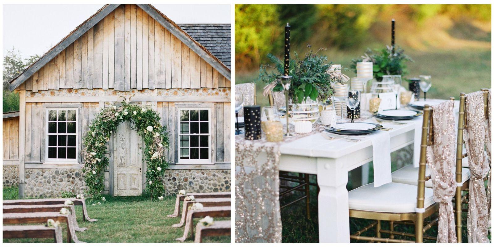rustic tennessee barn wedding u2014 metallic wedding theme