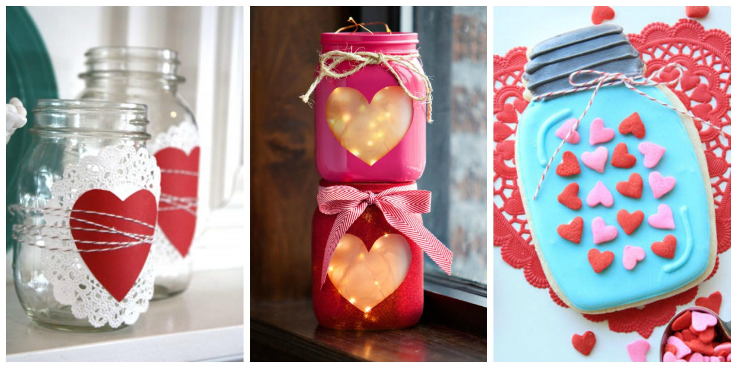25 cute valentines day mason jars ideas valentine 39 s day for Diy jar crafts