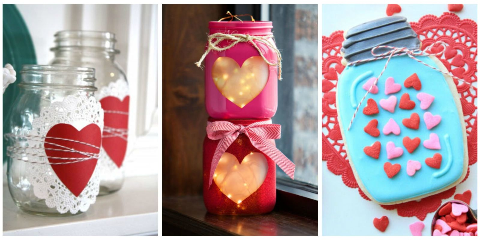 25 Cute Valentines Day Mason Jars Ideas -Valentine's Day Mason Jar ...