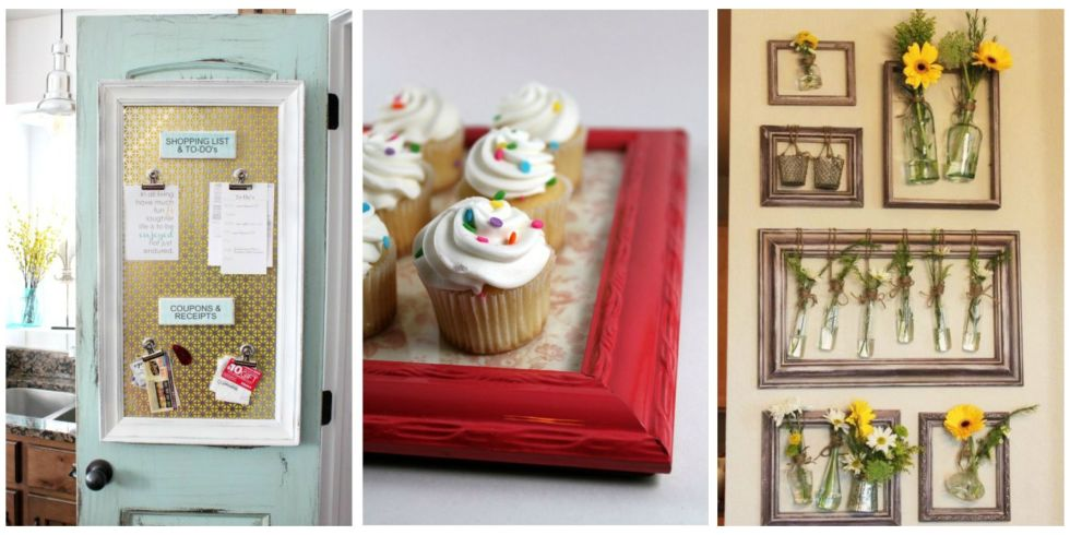picture frame crafts how to repurpose picture frames