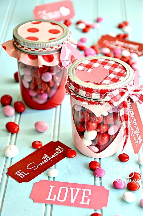 19 Cute Valentines Day Mason Jars Ideas -Valentines Day Mason Jar
