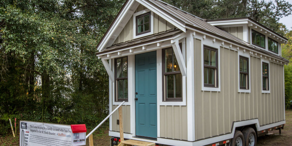 Tiny Houses Helping Flood Victims in South Carolina Driftwood