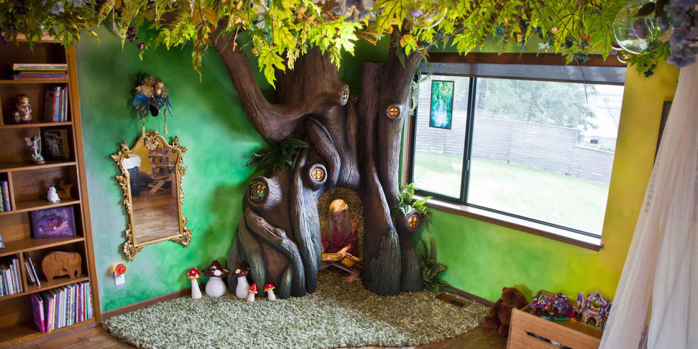 Kids Bedroom Tree father built tree in daughter's bedroom–how to make child's