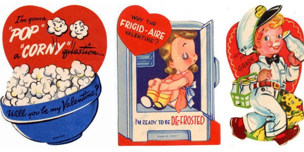 16 Vintage Valentines Day Cards Funny Antique Valentines – Vintage Valentines Cards