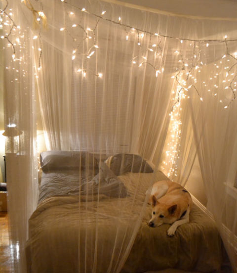 Curtains Ideas curtain lights for bedroom : 10 DIY Canopy Beds - Bedroom and Canopy Decorating Ideas