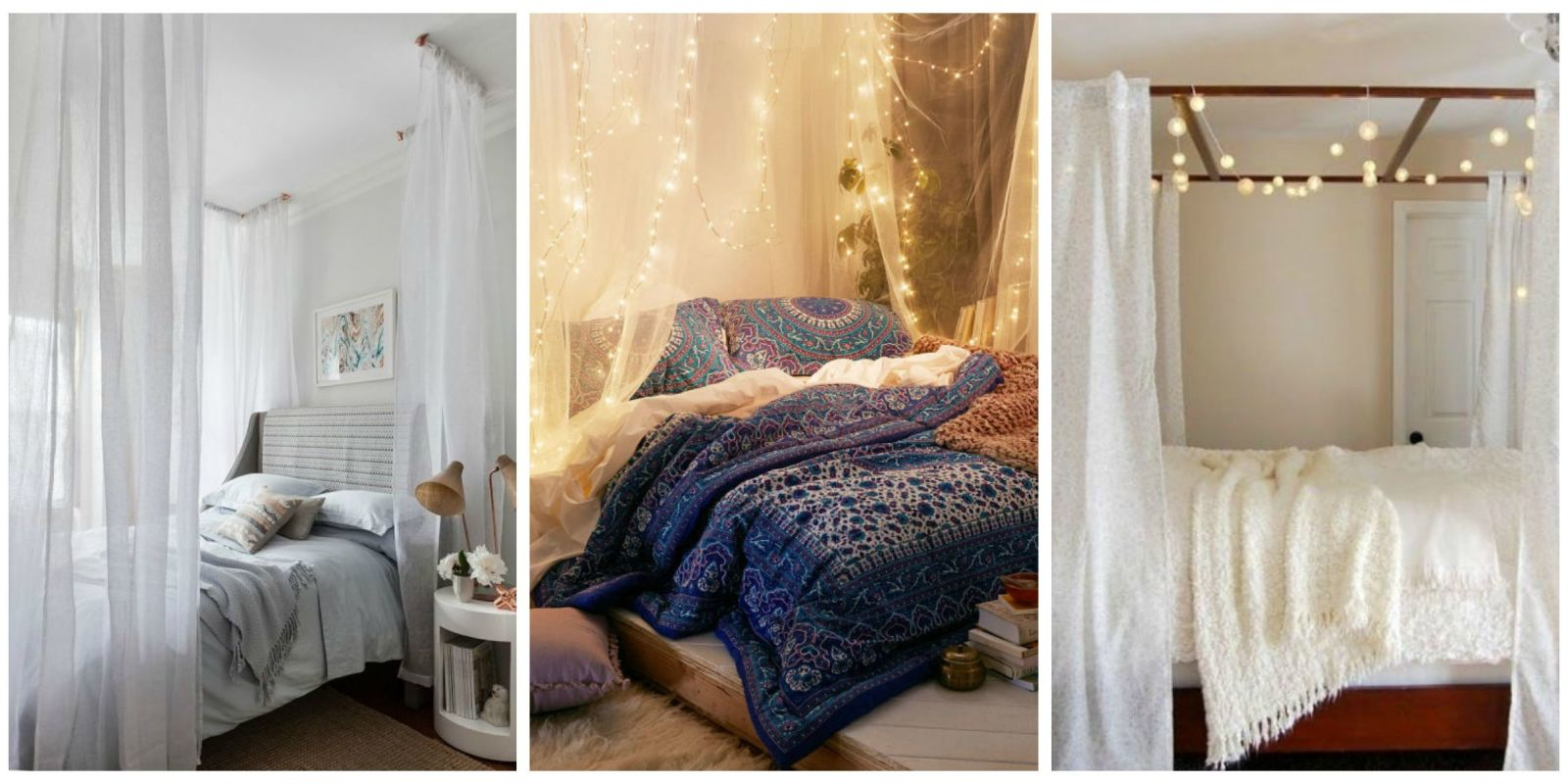 Curtains For Canopy Beds 10 diy canopy beds - bedroom and canopy decorating ideas