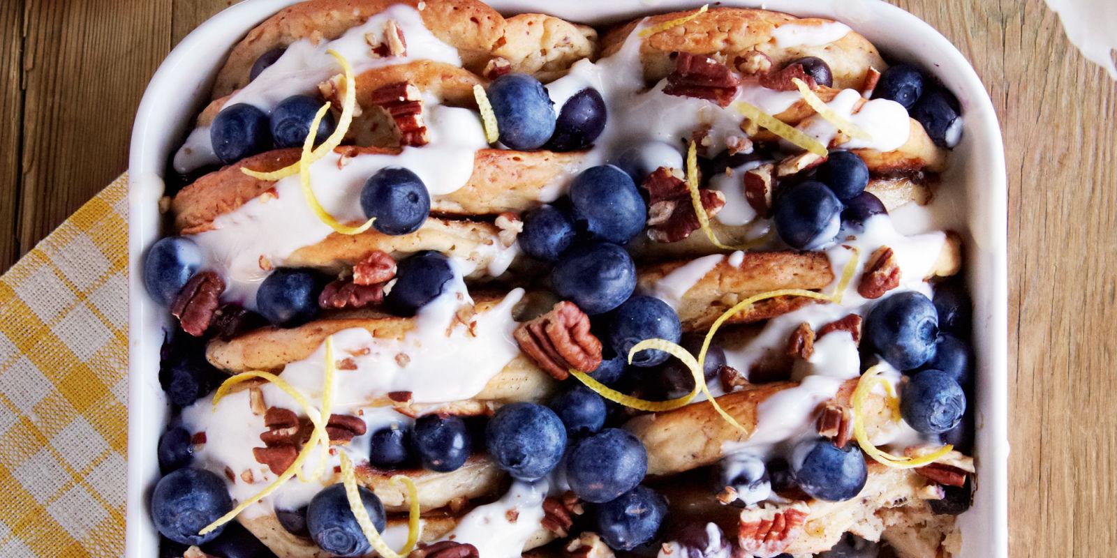 Blueberry Pecan Pancake Bread Pudding