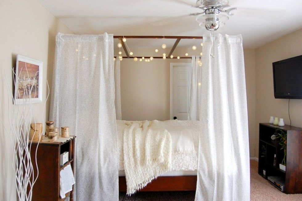 Bed Canopy Diy Beauteous 10 Diy Canopy Beds  Bedroom And Canopy Decorating Ideas Design Decoration