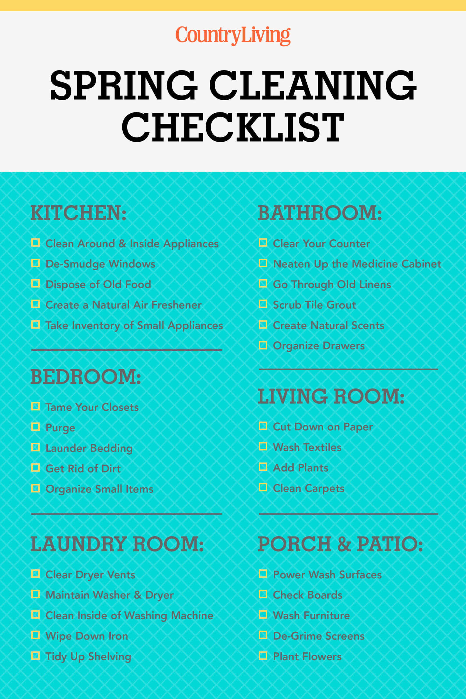 Spring Cleaning Checklist 30+ spring cleaning checklist & tips - how to spring clean