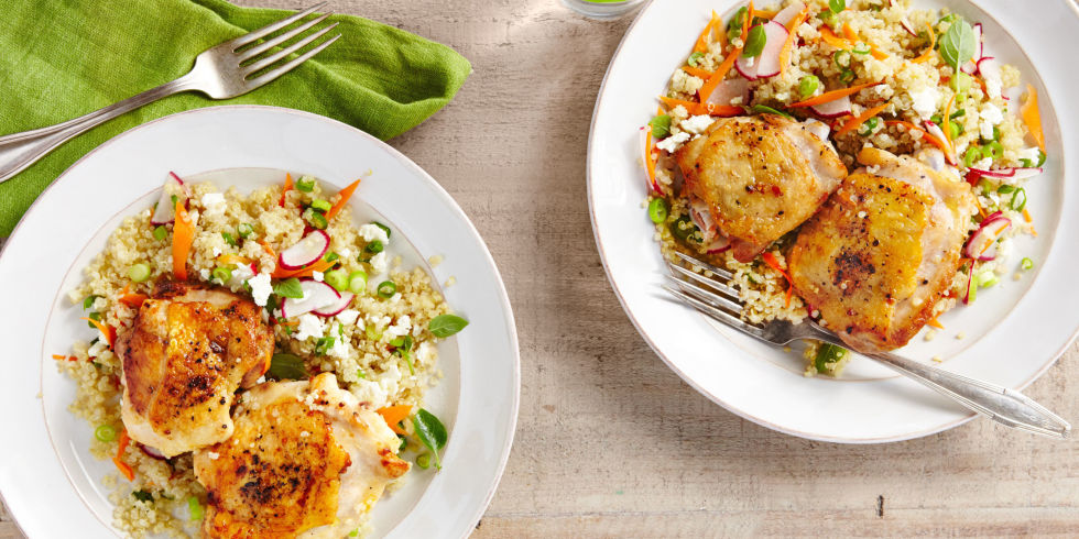 Salt and pepper chicken with spring quinoa pilaf recipe recipe for salt and pepper chicken with spring quinoa pilaf ccuart Choice Image