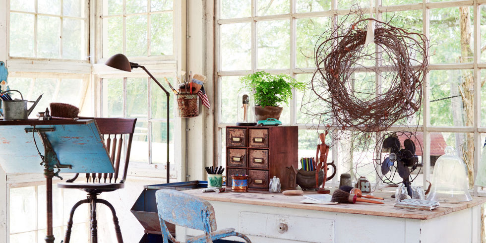 You don t need to be an artist to wish this stunning studio was yours. Barbara Adkins She Shed   Chic Shed Backyard Decorating Ideas