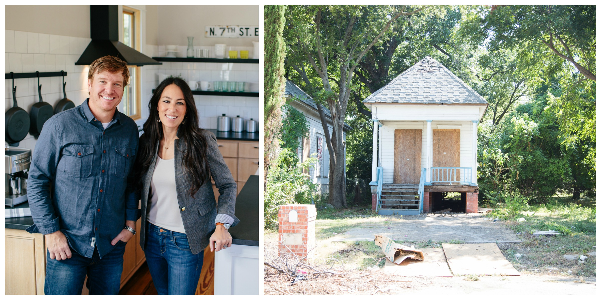 fixer upper shotgun house chip and joanna renovate free house. Black Bedroom Furniture Sets. Home Design Ideas