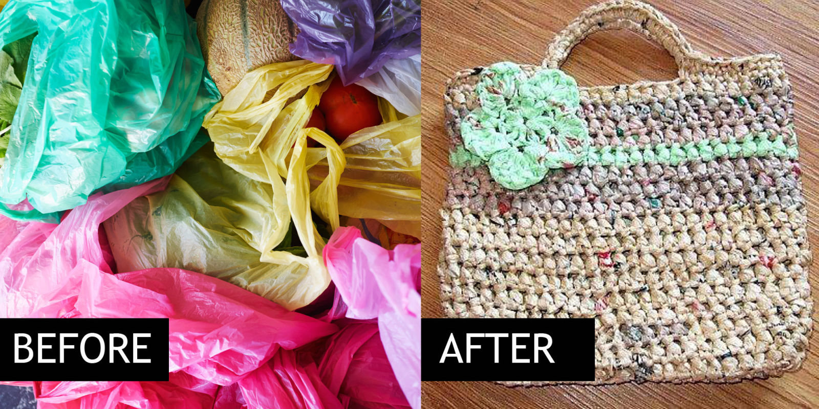 how to make a bag out of plarn