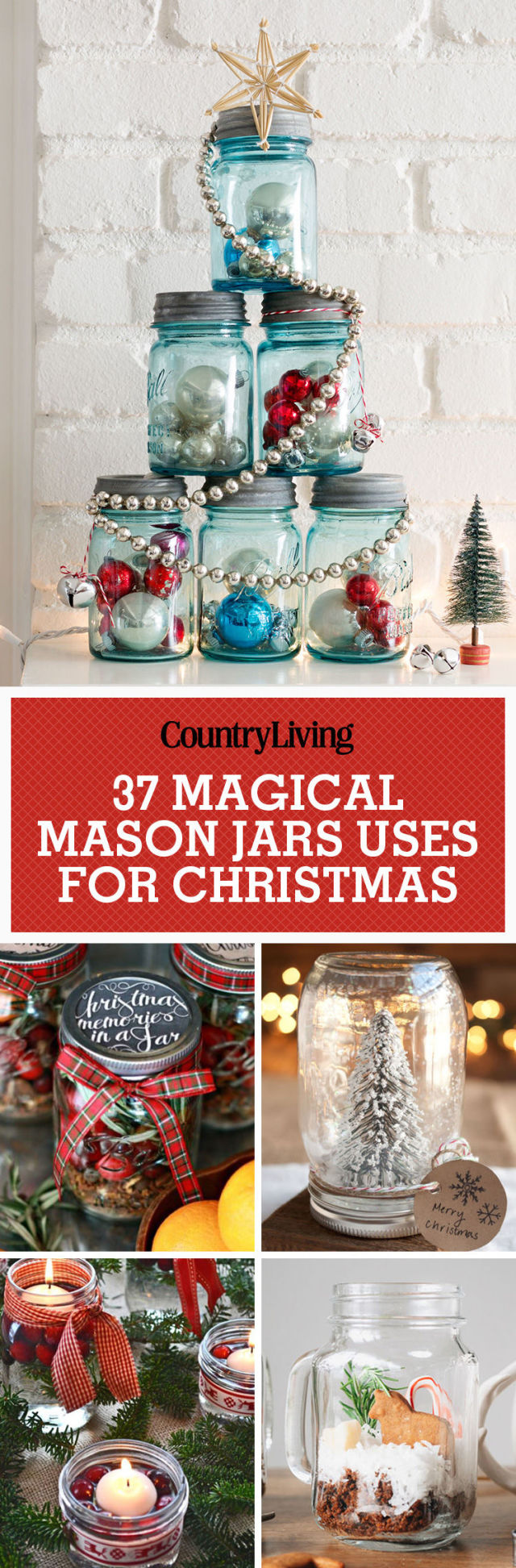 Storage For Christmas Decorations 40 Mason Jar Christmas Crafts Fun Diy Holiday Craft Projects