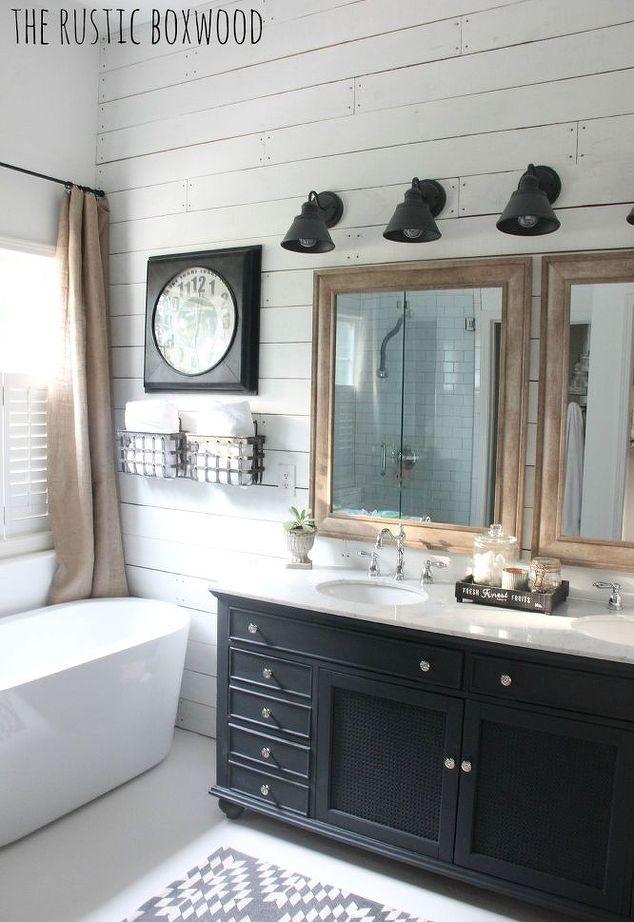 Inside This Bathroomu0027s $6,000 Farmhouse Style Facelift