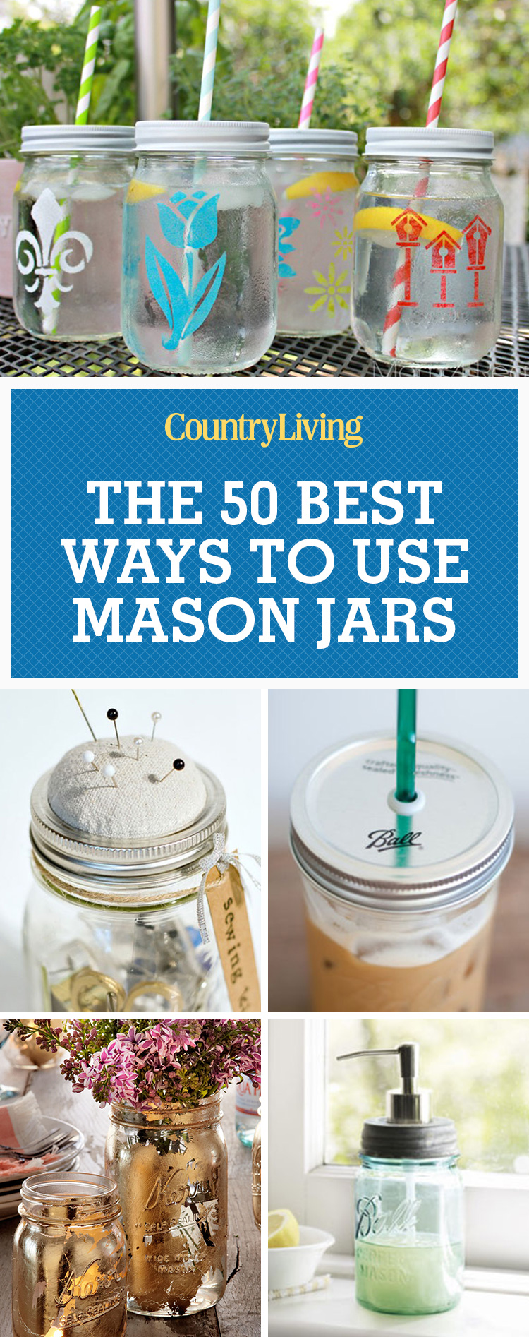 50 great mason jar ideas easy uses for mason jars for Cool things to do with mason jars