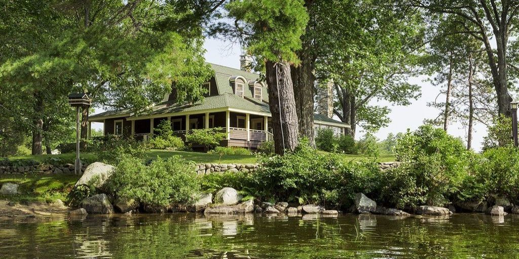Lake Winnipesaukee Great Camps Boulder Lodge For Sale