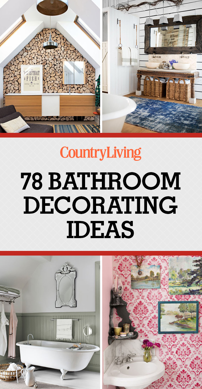 80 best bathroom decorating ideas decor design for Country living bathroom designs