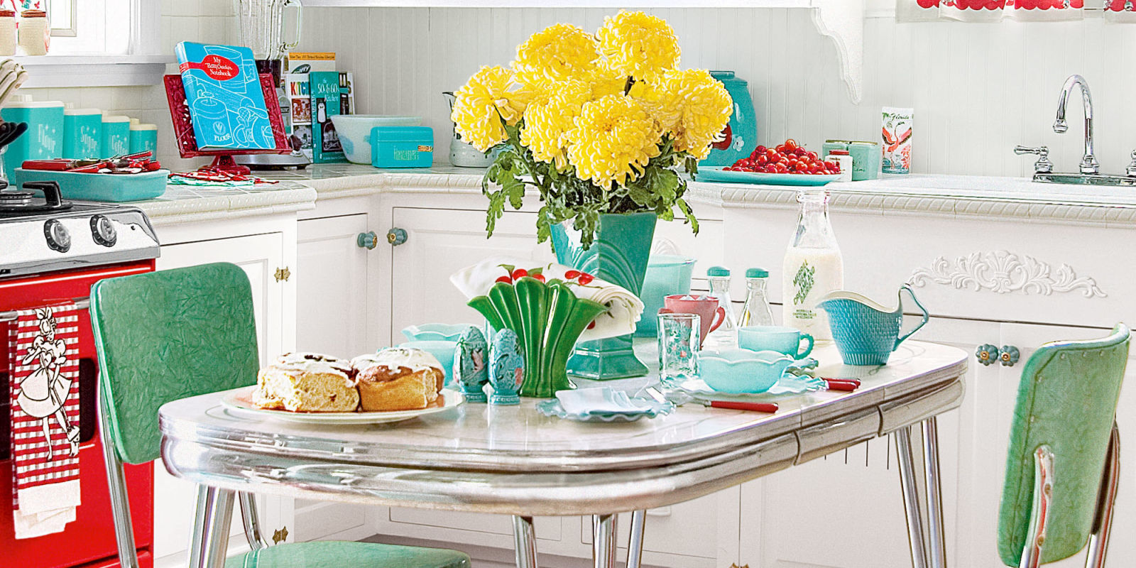 11 retro diner decor ideas for your kitchen vintage for 50 s style kitchen designs