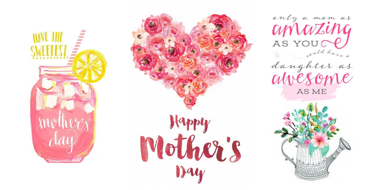 15 Cute Free Printable Mothers Day Cards - Mom Cards You ...