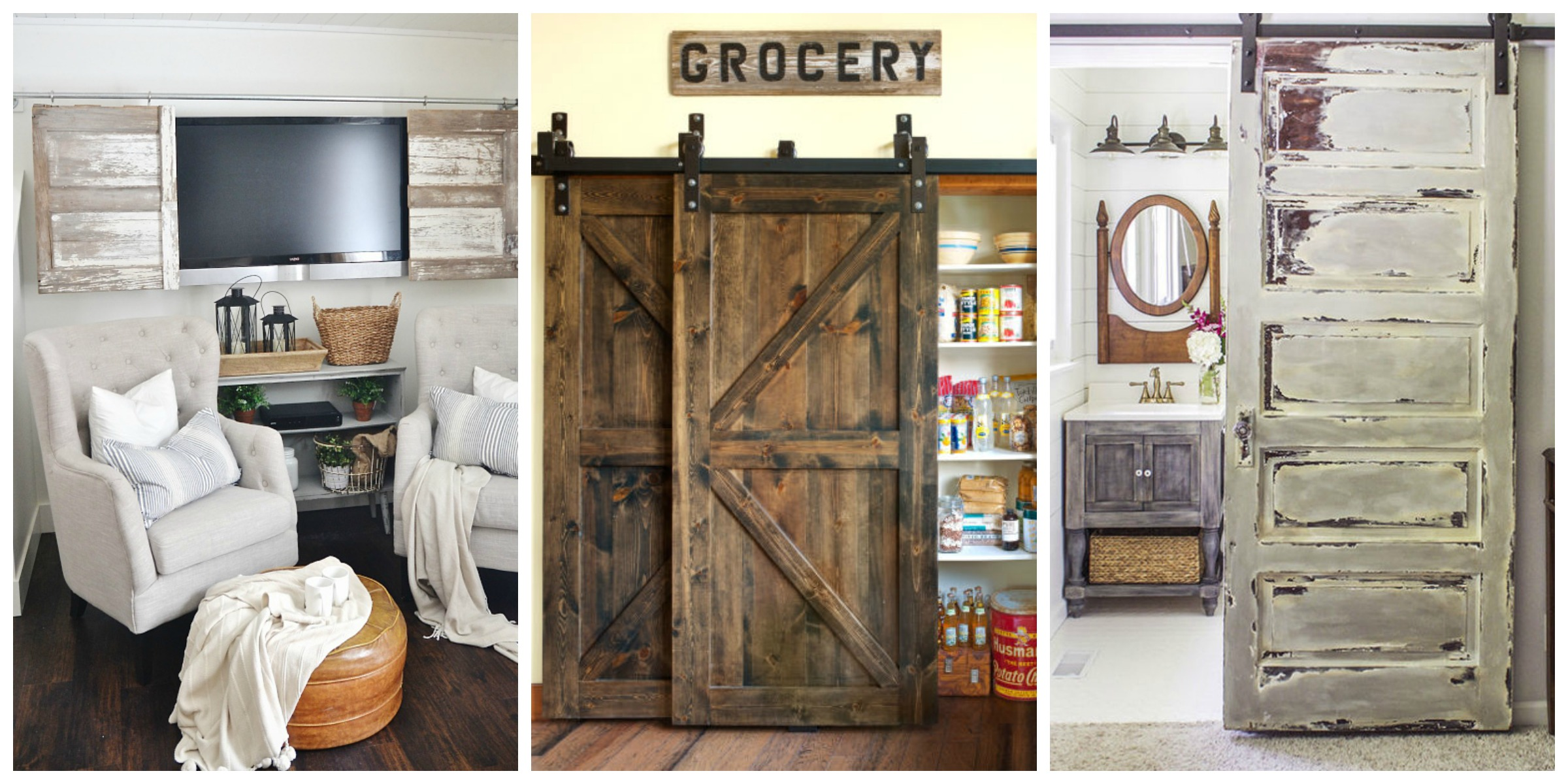 20 best barn door ideas ways to use a barn door for Barn door closet door ideas