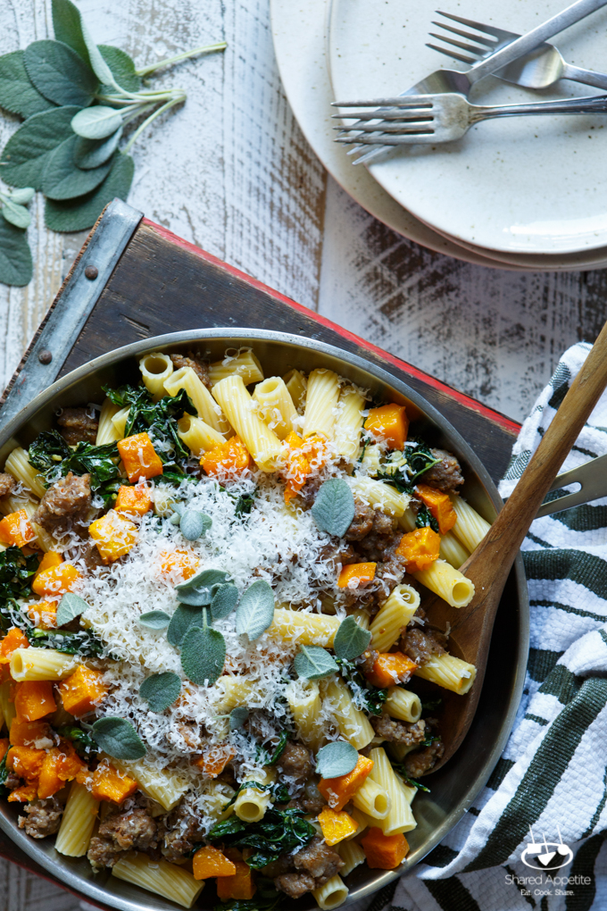 Butternut Squash, Italian Sausage And Sage Pasta Recipes — Dishmaps