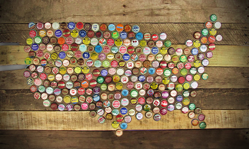 Beer Bottle Wall Art Wall Murals Ideas - Us beer map wall art