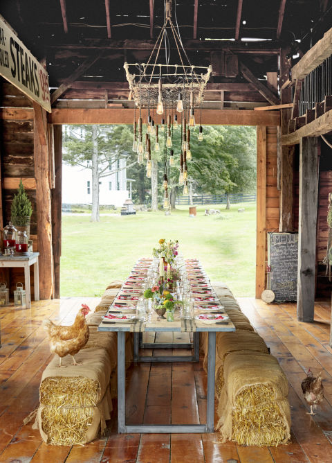 Red Barn Decorating Ideas Barn Outdoor Party