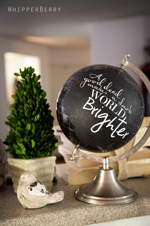 13 1 fantastisch kreative deko ideen mit alten globen. Black Bedroom Furniture Sets. Home Design Ideas