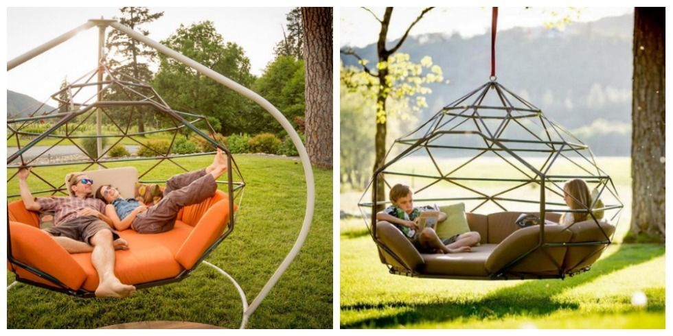 Lovely This Funky Outdoor Swing Is The Ultimate Way To Relax This Summer   Porch  Swing Bed And Chair