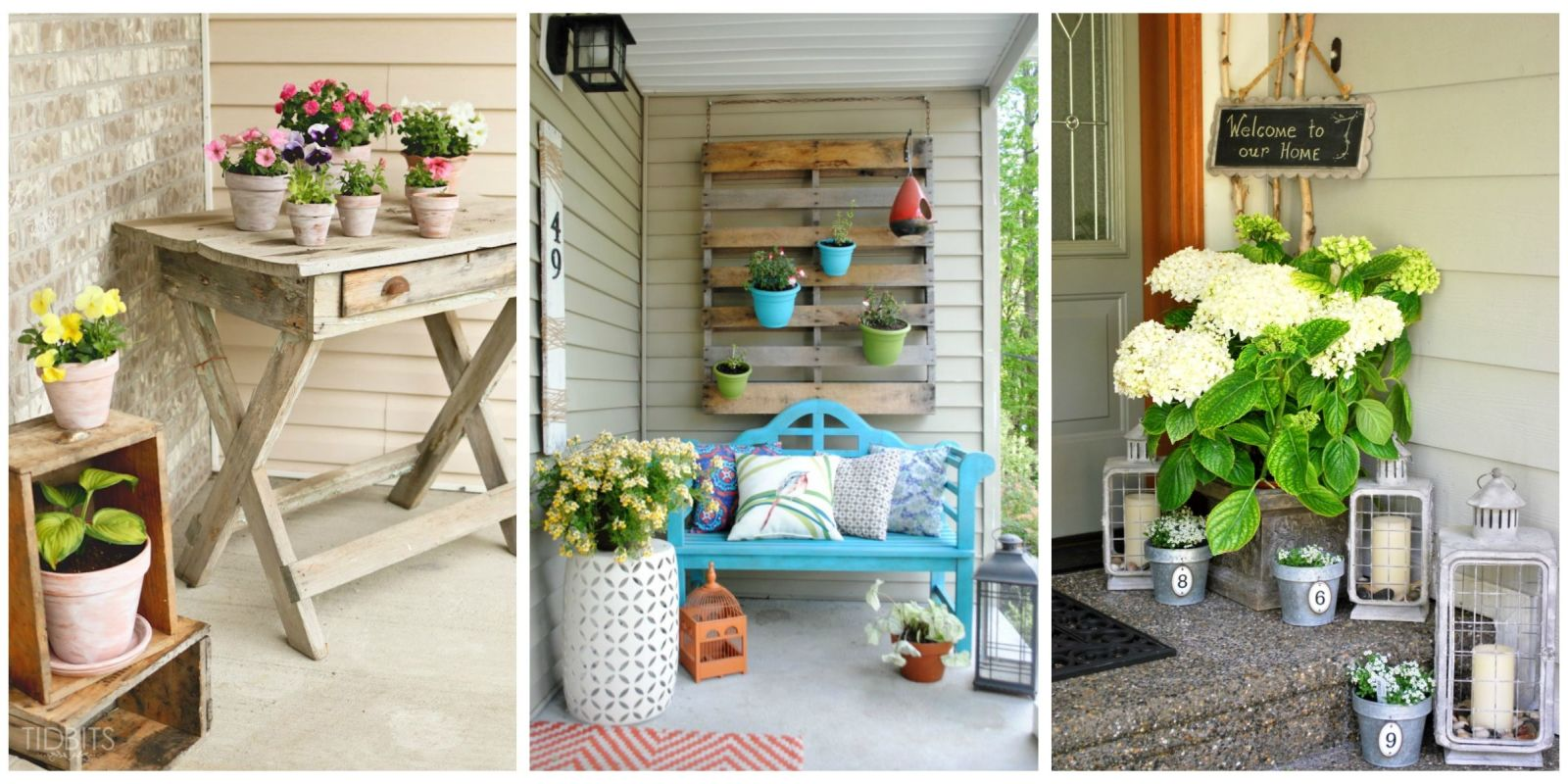 Diy porch d cor diy outdoor d cor for Homemade garden decor crafts