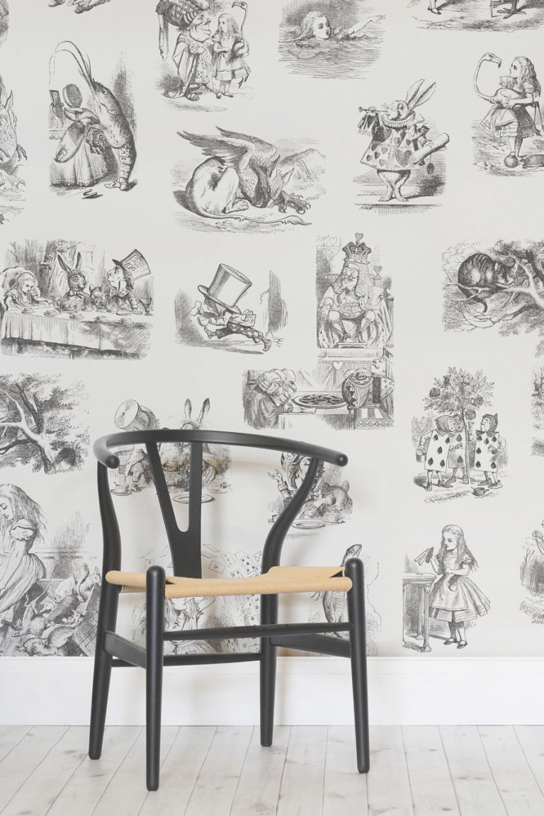 wallpaper inspired by books alice in wonderland wallpaper murals wallpaper
