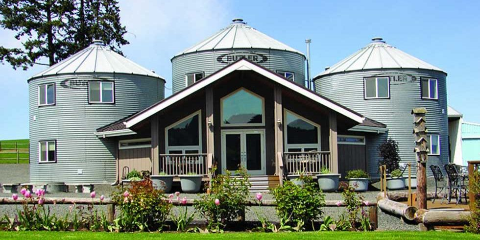 Silos converted to houses non traditional homes for Non traditional house plans