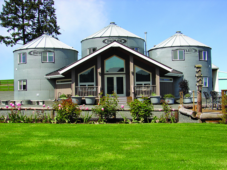 "Thirteen years ago, hospitality industry vets John and Judi Stewart left Las Vegas to live on an 82-acre farm in Oregon wine country. They built a house the first year, then set their sites on converting the property's old grain silos into ""Silo Suites."" The result is Abbey Road Farm, a quaint bed-and-breakfast that also plays host to concerts and weddings."