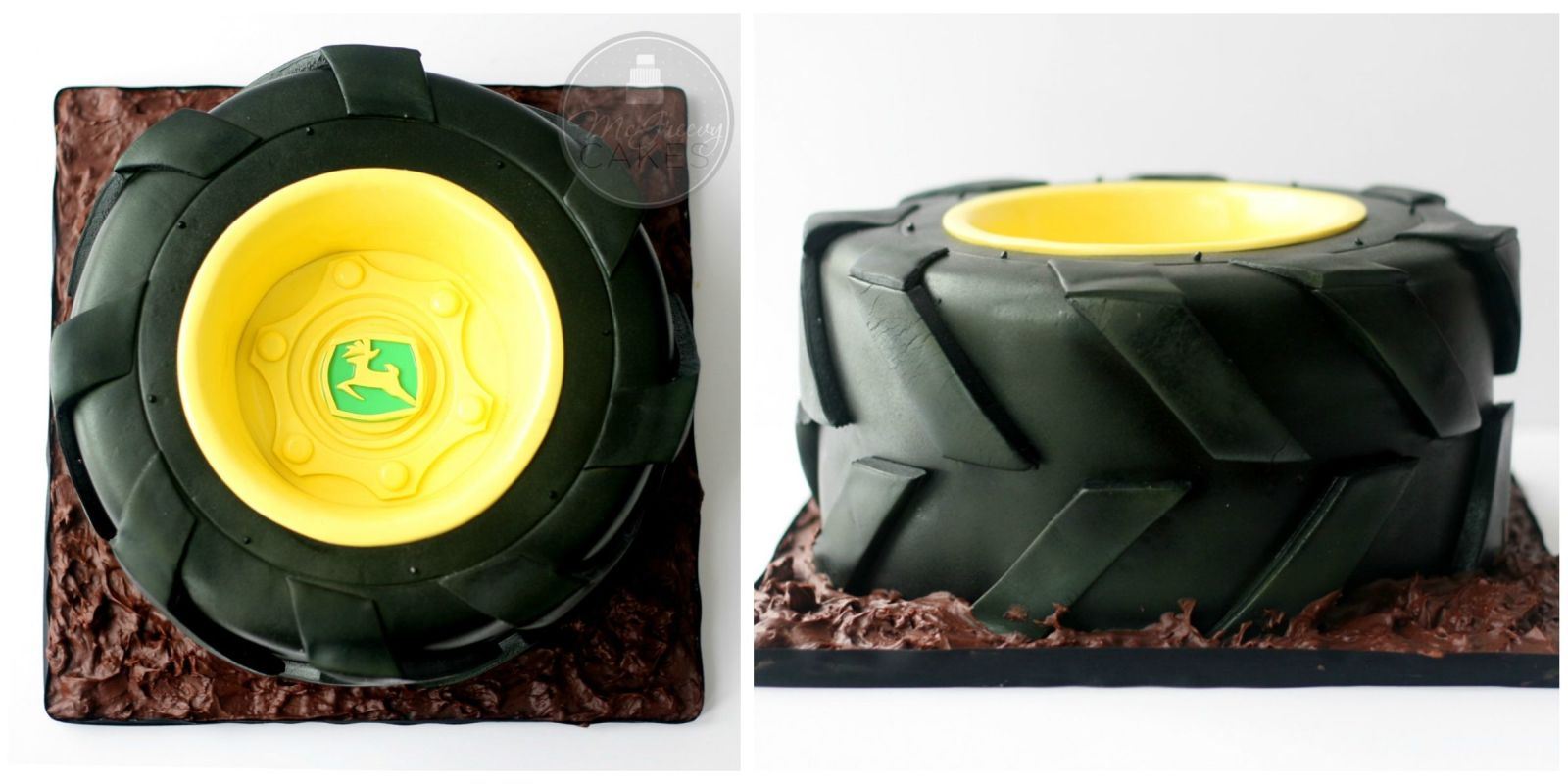 John Deere Tractor Tyre : How to make a tractor tire cake decorating john deere