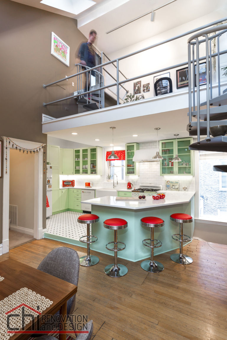 Retro Kitchen Flooring This Colorful Retro Kitchen Makeover Will Make You Feel Cheery