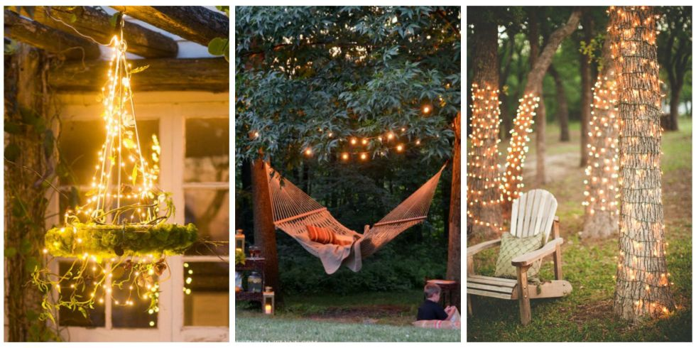 18 backyard lighting ideas - how to hang outdoor string lights - String Lights Patio Ideas