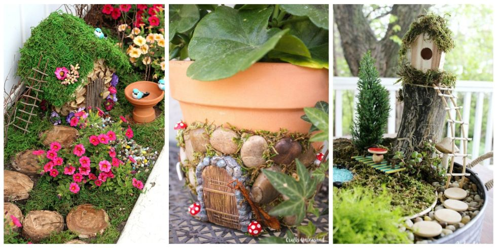 Miniature Fairy Garden Ideas diy fairy houses is this not the cutest thing ever sounds too easy to make wwwgoodshomedesi 12 Diy Fairy Garden Ideas How To Make A Miniature Fairy Garden