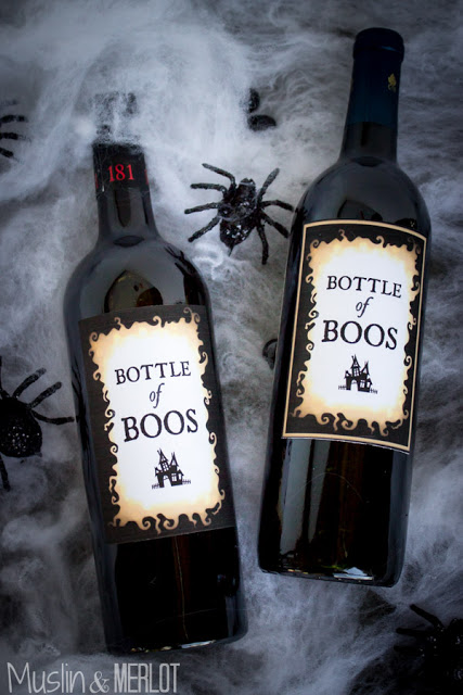 Even your booze needs decorating. Paste on printable wine tags with double-sided tape to make this clever bottle craft. 
