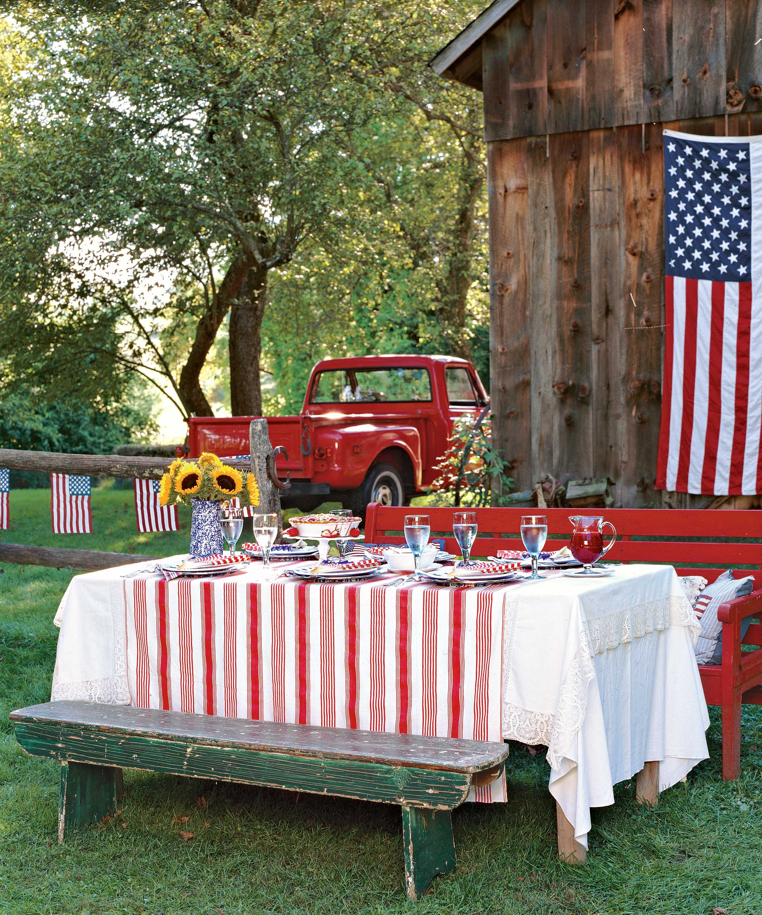 4th Of July Picnic Party Food & Decor