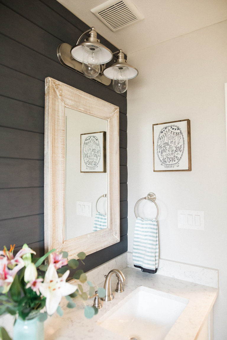 Simple Farmhouse Kids Bathroom