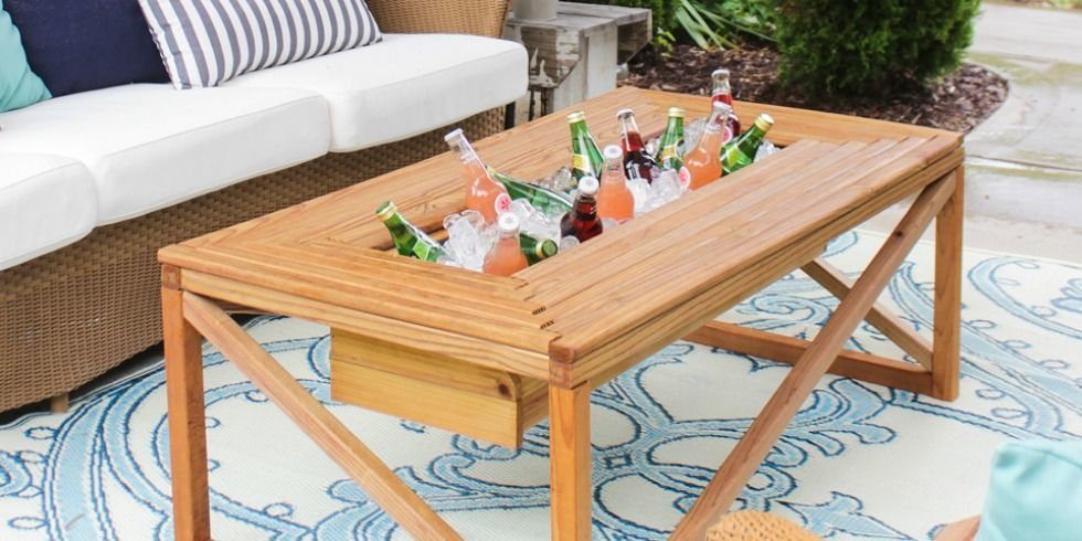 dual functioning coffee table - DIY Outdoor Coffee Table — How To Make An Outdoor Coffee Table