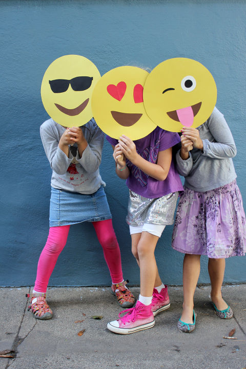 Bring your favorite emojis to life this Halloween with these easy-to-make masks. Get the tutorial at Alice and Lois.