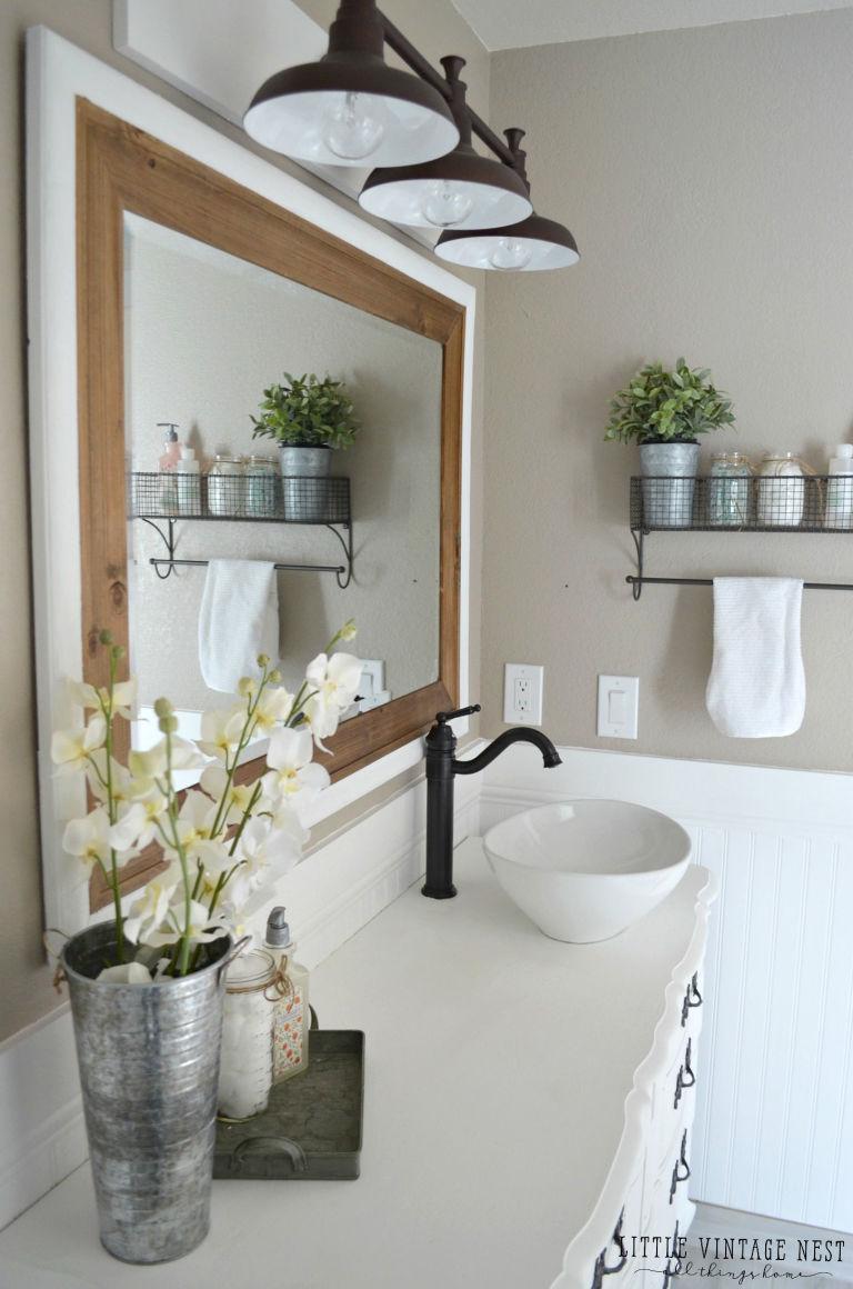 5 brilliant design ideas from this elegant farmhouse bathroom