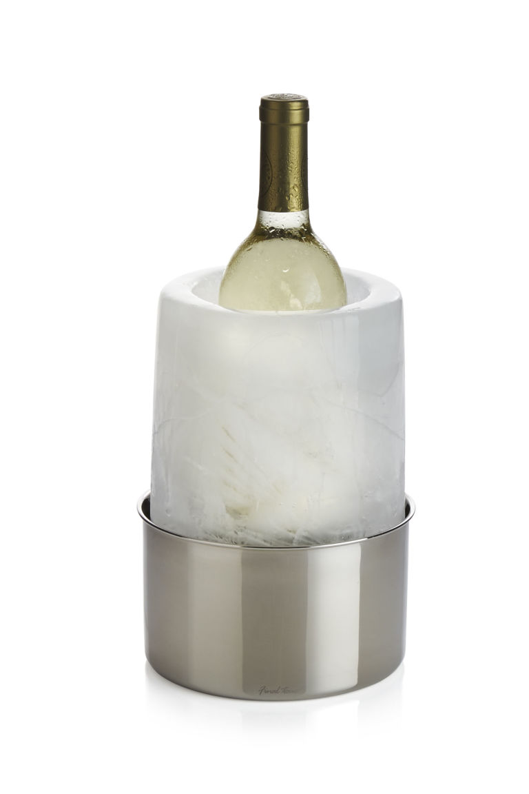crate u0026 barrel wine bottle chiller wine bottle centerpiece